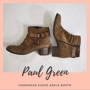 Paul Green Munchen Distressed Suede Ankle Boots